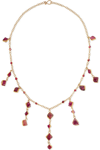 PIPPA SMALL 18-Karat Gold Spinel Necklace