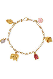 Pippa Small 18-karat gold spinel bracelet