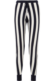 Leonis striped cashmere track pants