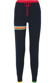 Pluto striped cashmere track pants
