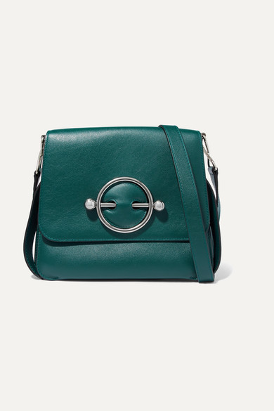 J.W.ANDERSON Disc Leather Shoulder Bag in Green