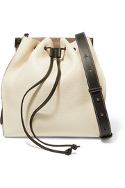Textured-leather bucket bag
