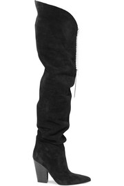 Magda Butrym Denmark embellished suede thigh boots