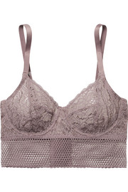 Else Arya stretch-lace and mesh underwired bra