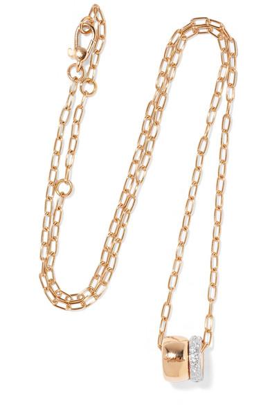 POMELLATO ICONICA 18-KARAT ROSE GOLD DIAMOND NECKLACE