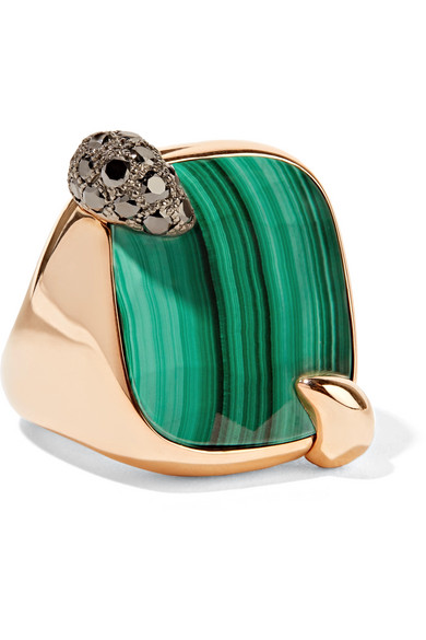 Pomellato - 18-karat Rose Gold, Malachite And Diamond Ring