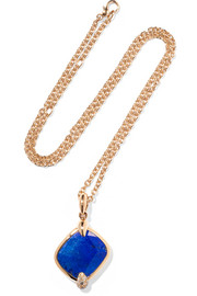 Collier en or rose 18 carats, lapis-lazuli et diamants Ritratto