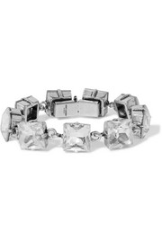 Saint Laurent Smoking silver-tone and crystal bracelet