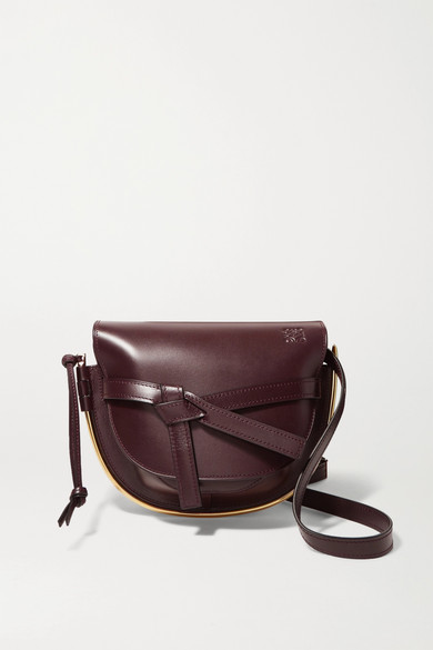 LOEWE GATE SMALL EMBELLISHED LEATHER SHOULDER BAG