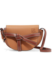 Gate mini textured-leather shoulder bag