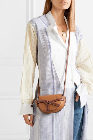 20c866ff196b Gate mini textured-leather shoulder bag