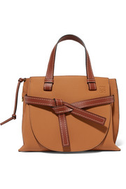 Gate small textured-leather tote