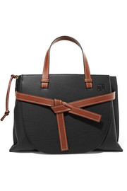 Gate textured-leather tote