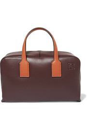 Landscape leather tote
