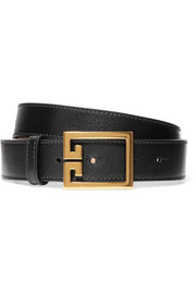 Textured-leather belt
