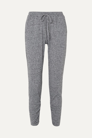 EBERJEY Bobby Camp Tapered Jersey Track Pants in Gray