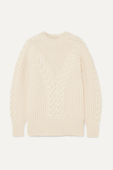 Ivory Chunky-Knit Wool Jumper from ALEXANDER McQUEEN