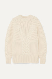 Alexander McQueen Cable-knit wool sweater
