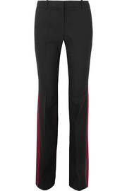 Alexander McQueen Wool and silk-blend bootcut pants