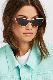 + Adam Selman The Fugitive cat-eye metal sunglasses