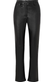 Cembra leather flared pants