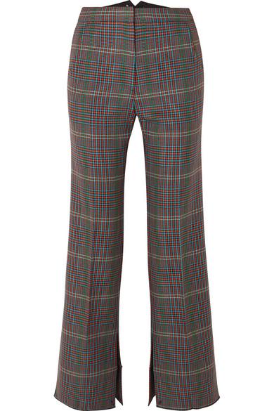 Golden Goose Pants Rendena checked wool wide-leg pants