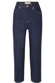 Komo cropped high-rise straight-leg jeans