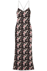 Eywasouls Malibu Josepha open-back floral-print cotton-voile maxi dress