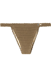 She Made Me Lalita crocheted cotton bikini briefs