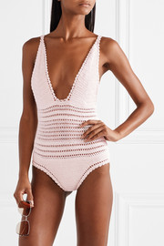 She Made Me Lalita crocheted cotton swimsuit