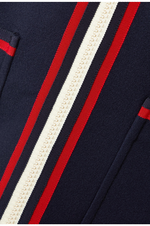Gucci Grosgrain-trimmed wool coat