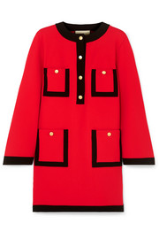 Gucci Velvet-trimmed jersey dress