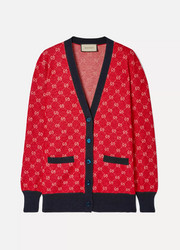 Gucci Intarsia wool and alpaca-blend cardigan