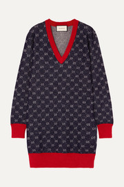 Gucci Wool and alpaca-blend jacquard dress