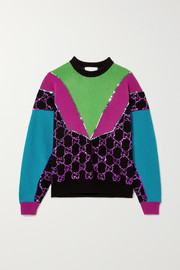 Gucci Sequin-embellished wool sweater