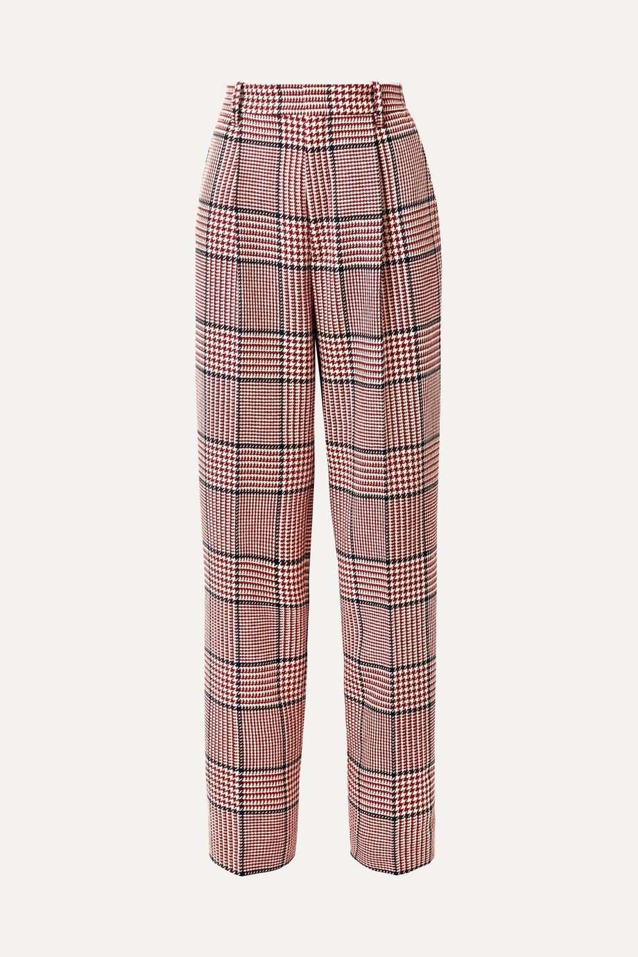 Gucci Prince of Wales checked wool-blend wide-leg pants