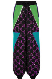 Gucci Sequin-embellished wool track pants