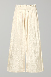 Gucci Pleated silk-taffeta wide-leg pants