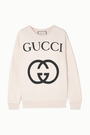 Gucci Printed cotton-terry sweatshirt