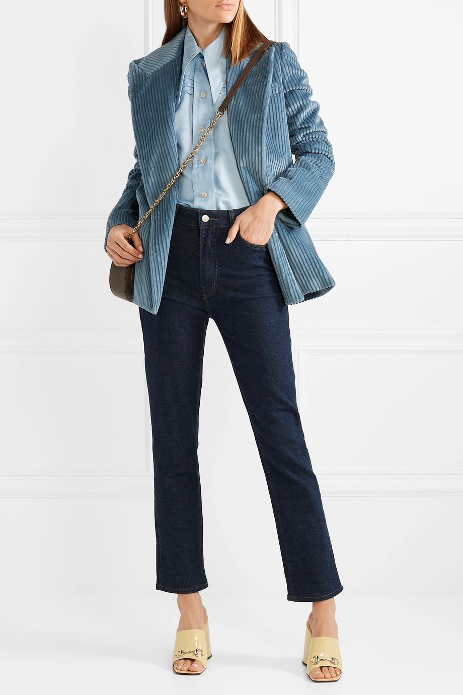 Gucci Pintucked silk-georgette shirt