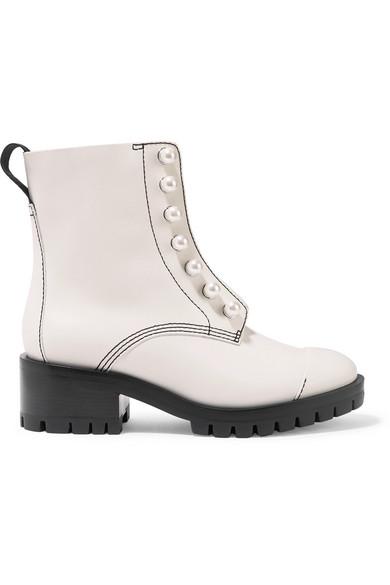 8b0f22dd96e3 3.1 Phillip Lim   Hayett Ankle Boots aus Leder mit Kunstperlen    NET-A-PORTER.COM
