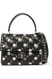 Valentino Garavani Candystud polka-dot quilted leather shoulder bag