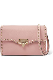 Valentino Valentino Garavani The Rockstud textured-leather shoulder bag