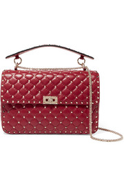 Valentino Garavani The Rockstud Spike large quilted leather shoulder bag