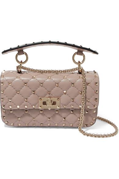 e9508ad1a4 Valentino. Valentino Garavani The Rockstud Spike small quilted leather  shoulder bag