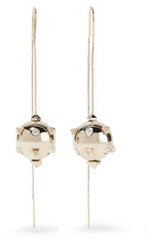 Valentino Valentino Garavani silver-tone crystal earrings