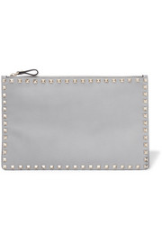 Valentino Garavani The Rockstud textured-leather pouch