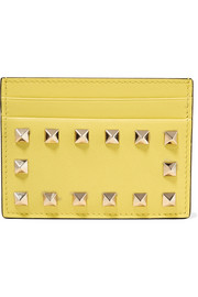 Valentino Valentino Garavani The Rockstud textured-leather cardholder
