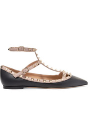 Valentino Valentino Garavani The Rockstud leather point-toe flats