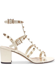 Valentino Valentino Garavani The Rockstud patent-leather sandals